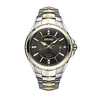 Seiko Men's Coutura Diamond Two Tone Stainless Steel Solar Watch - SNE444