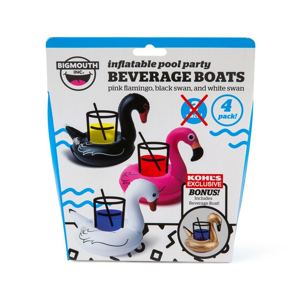 Big Mouth Inc. 4-pack Tropical Bird Beverage Boats