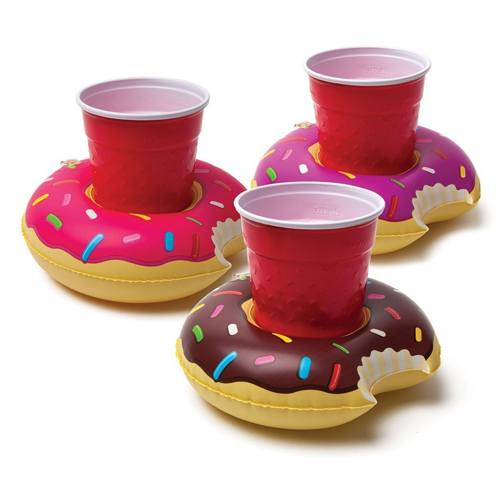 Big Mouth Inc. 4-pack Frosted Donut Beverage Boats