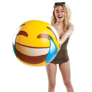 Big Mouth Inc. 20-inch Giant Tears of Joy Emoji Beach Ball