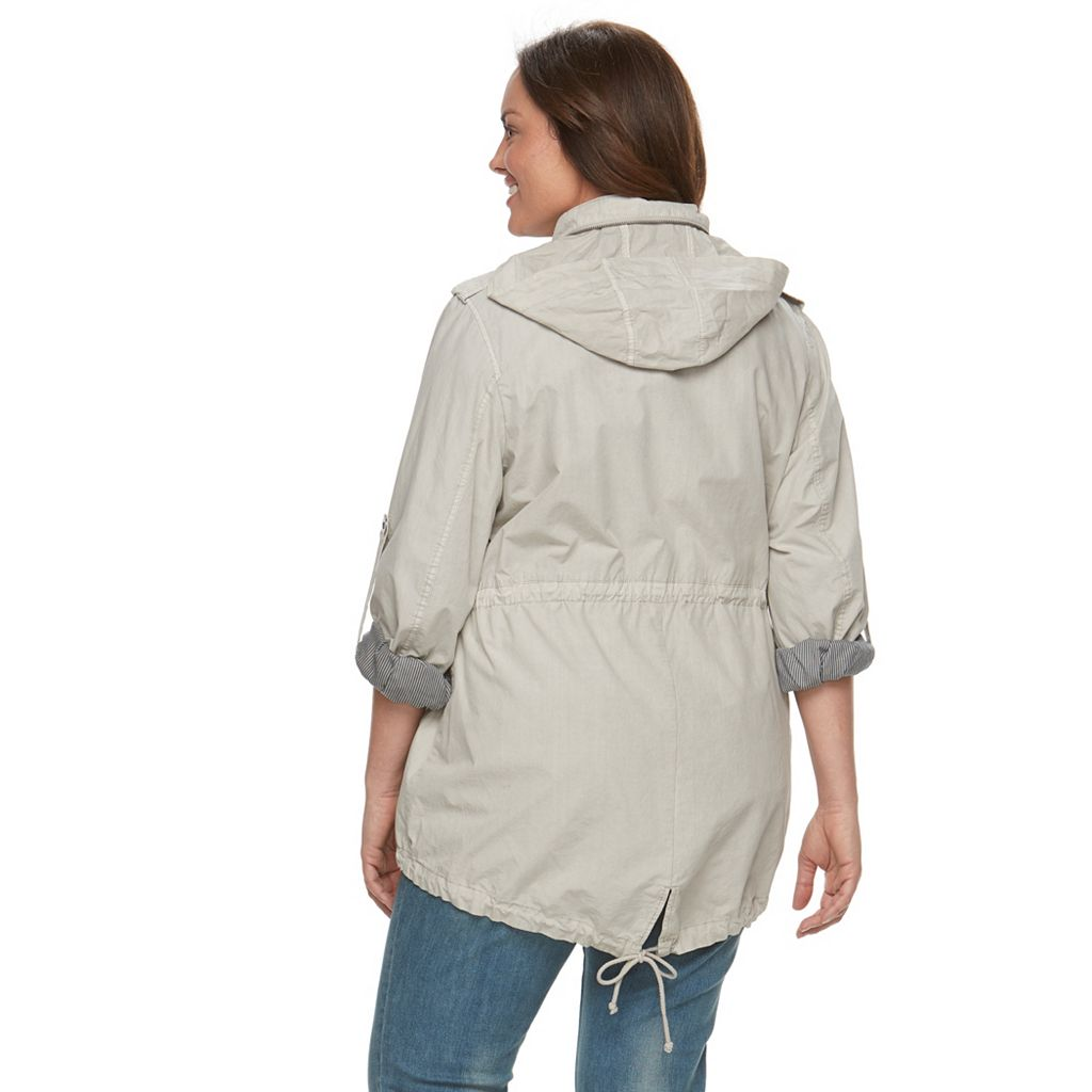 Plus Size Levi's Hooded Roll-Tab Anorak Jacket