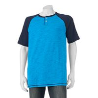 Big & Tall Urban Pipeline® MaxFlex Classic-Fit Heathered Henley