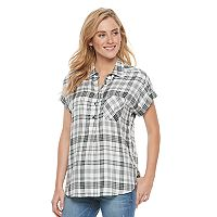Women's SONOMA Goods for Life™ Plaid Dolman Top
