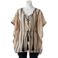 SONOMA Goods for Life™ Striped Tassel Poncho