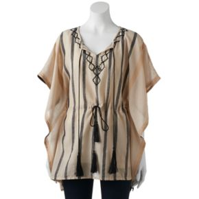 SONOMA Goods for Life? Striped Tassel Poncho
