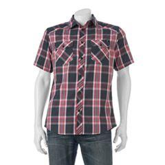 Big & Tall Rock & Republic Classic-Fit Plaid Button-Down Shirt
