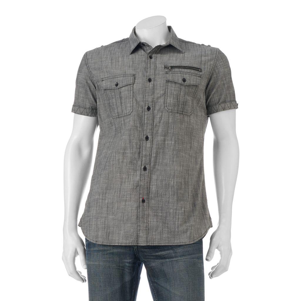Big & Tall Rock & Republic Classic-Fit Chambray Stretch Button-Down Shirt