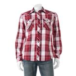 Big & Tall Rock & Republic Classic-Fit Plaid Roll-Tab Button-Down Shirt