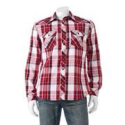 Big & Tall Rock & Republic Classic-Fit Plaid Roll-Tab Button-Down Shirt