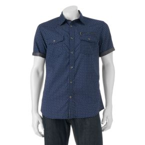 Big & Tall Rock & Republic Classic-Fit Diamond Button-Down Shirt