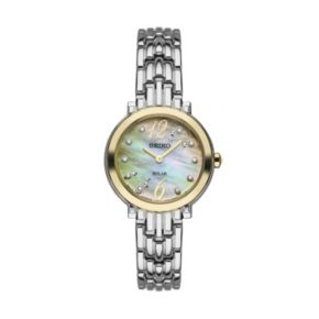Seiko Women's Tressia Diamond Two Tone Stainless Steel Solar Watch -  SUP354