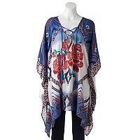 SONOMA Goods for Life™ Floral & Geometric Print Poncho