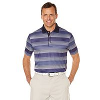 Men's Grand Slam Classic-Fit Striped Driflow Performance Golf Polo