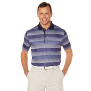 Men's Grand Slam Classic-Fit Striped Driflow Performance Golf Polo