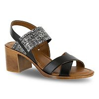 Tuscany by Easy Street Perlita Women's Block Heel Sandals