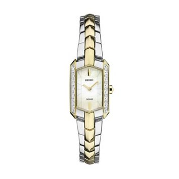 Seiko Women's Tressia Diamond Two Tone Stainless Steel Solar Watch - SUP358