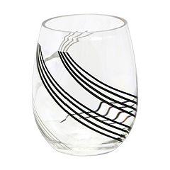 Corelle Urban Arc 4 pc Acrylic Stemless Wine Glass Set