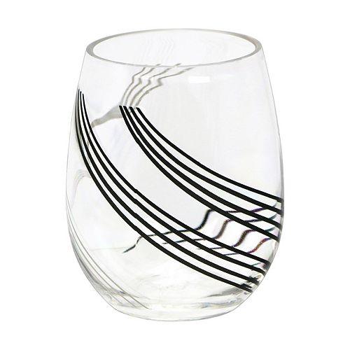 Corelle Urban Arc 4-pc. Acrylic Stemless Wine Glass Set