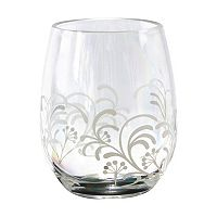 Corelle Cherish 4-pc. Acrylic Stemless Wine Glass Set