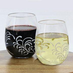 Corelle Cherish 4-pc. Acrylic Stemless Wine Glass Set
