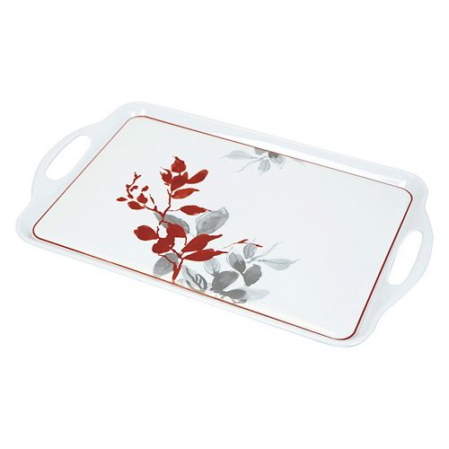 Corelle Kyoto Leaves Rectangular Melamine Tray