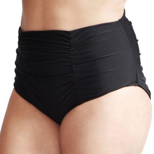 Plus Size Mazu Swim Tummy Slimmer Ultra High-Waisted Ruched Brief Bottoms
