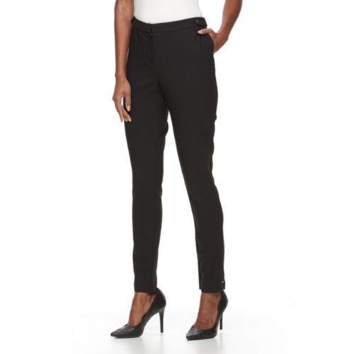 Women's Dana Buchman Jacquard Slim Straight-Leg Pants