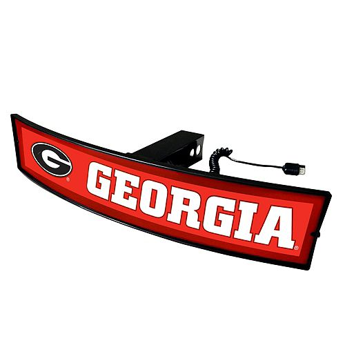 FANMATS Georgia Bulldogs Light Up Trailer Hitch Cover