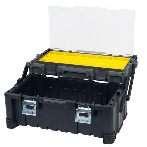 Stalwart Parts & Crafts Tiered Storage Tool Box