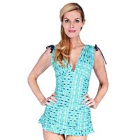 Women's Mazu Swim Body Sculptor Grecian Ruched Skater Swimdress
