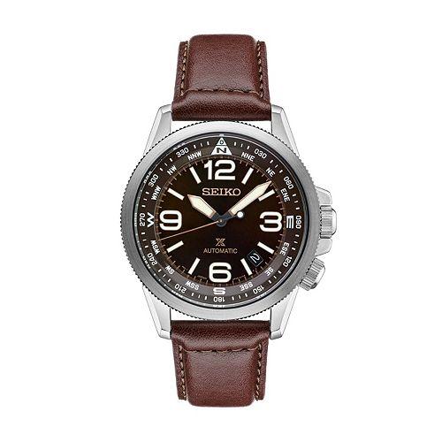 Seiko Men's Prospex Leather Automatic Watch - SRPA95