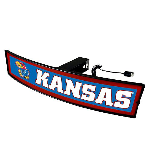 FANMATS Kansas Jayhawks Light Up Trailer Hitch Cover