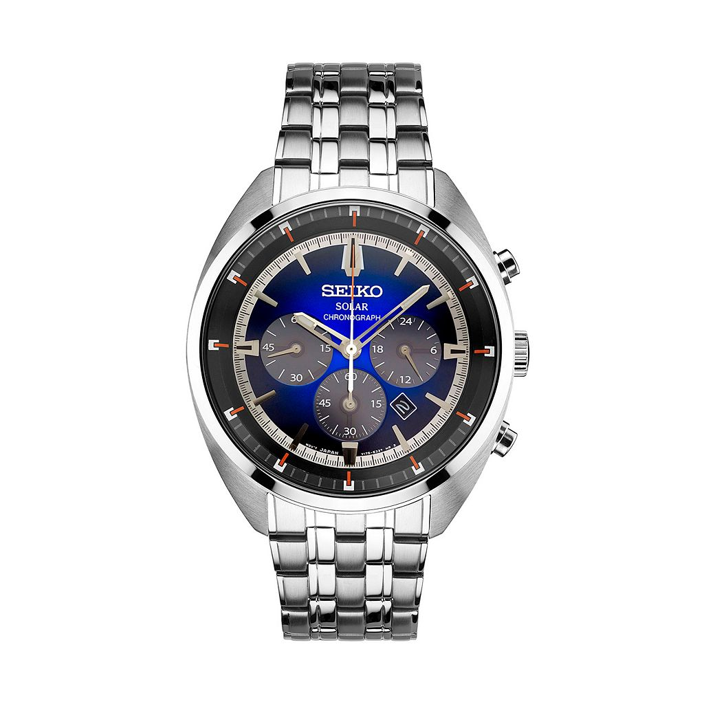 Seiko Men's Recraft Stainless Steel Solar Watch - SSC567