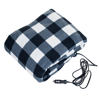 Stalwart 12V Plaid Electric Blanket