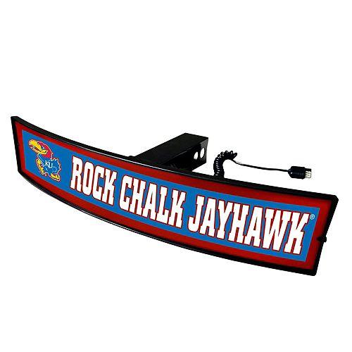 FANMATS Kansas Jayhawks Light Up Trailer Hitch Cover