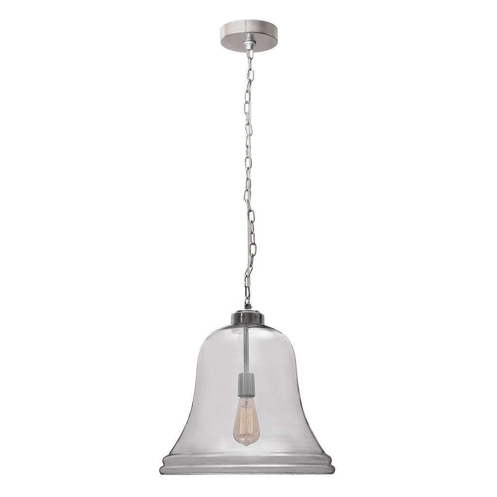 Kenroy Home Glass Bell Pendant Light