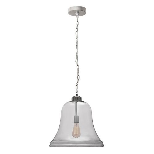 Kenroy Home Glass Bell Pendant Light