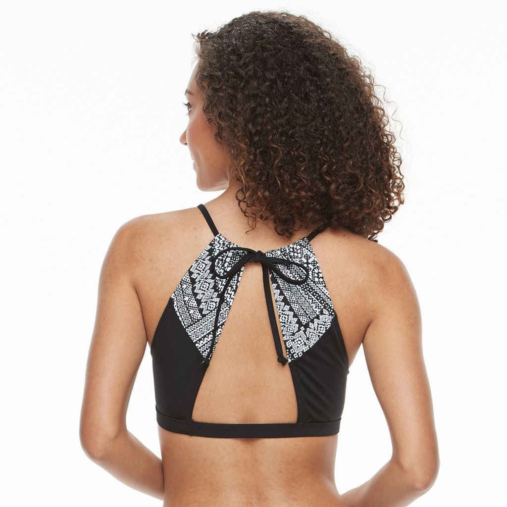Women's S.O.S. Sun Ocean Sand Bra-Sized High-Neck Bikini Top