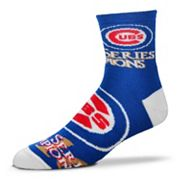 Adult For Bare Feet Chicago Cubs 2016 World Series Champions Quarter-Crew Socks