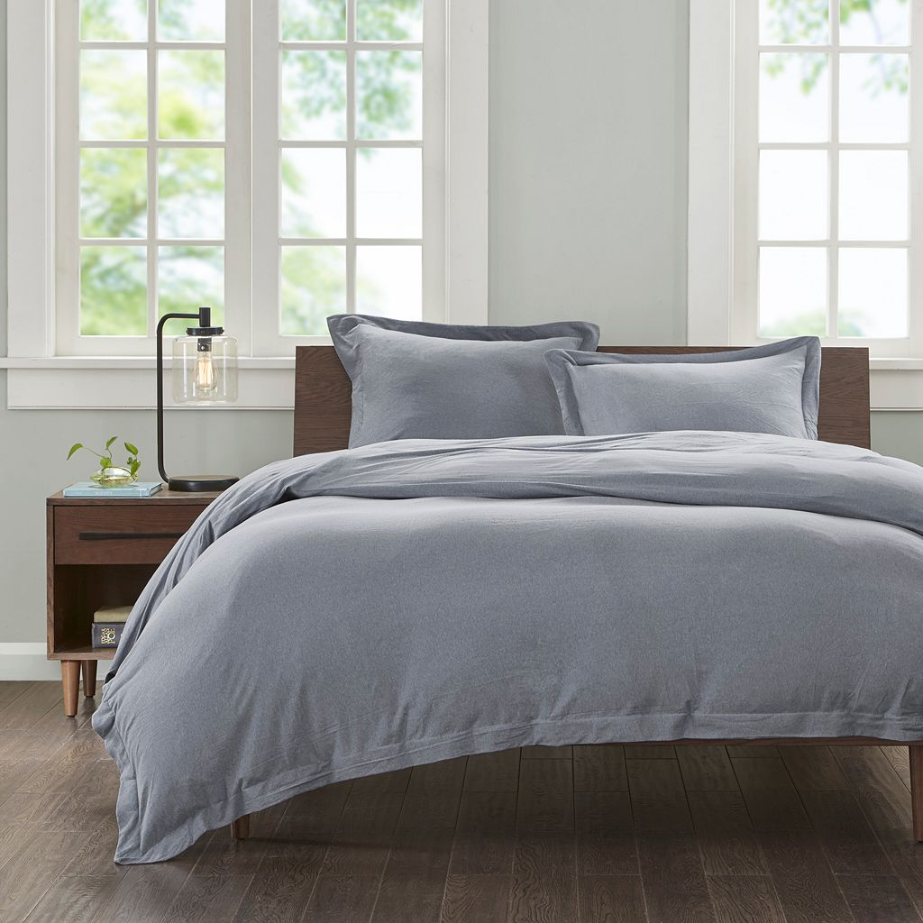 INK+IVY Cotton Jersey Duvet Cover Set