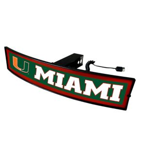 FANMATS Miami Hurricanes Light Up Trailer Hitch Cover