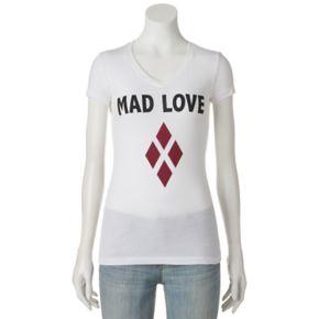 "Juniors' DC Comics Batman Harley Quinn ""Mad Love"" Graphic Tee"