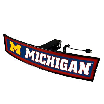 FANMATS Michigan Wolverines Light Up Trailer Hitch Cover