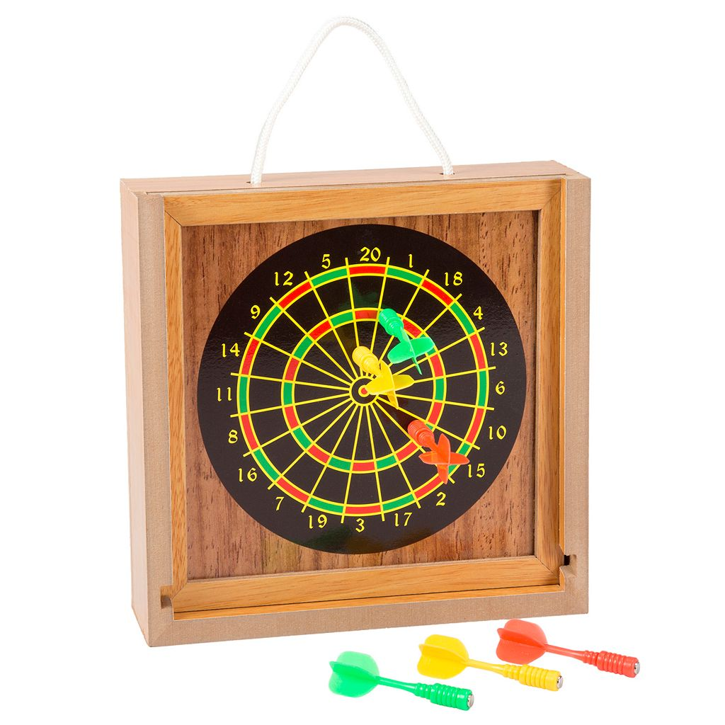 Hey! Play! Tabletop Bean Bag Toss & Magnetic Dart Game Set