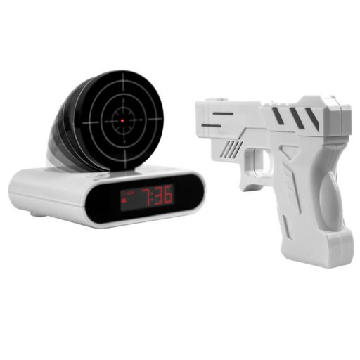 Trademark Games Gun & Target Recordable Alarm Clock
