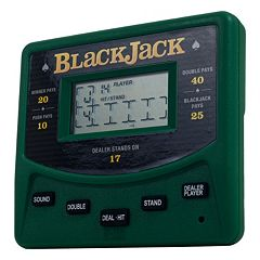 Trademark Games Electronic Handheld Las Vegas Style Blackjack Game