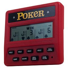 Trademark Games Electronic Handheld 5-in-1 Poker Game