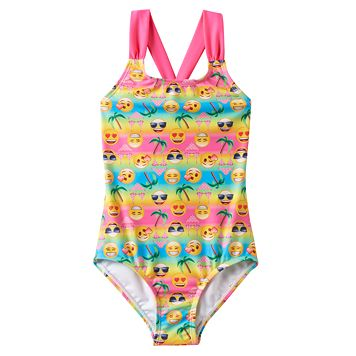 Girls 4-6x Freestyle Revolution Emoji One-Piece Swimsuit