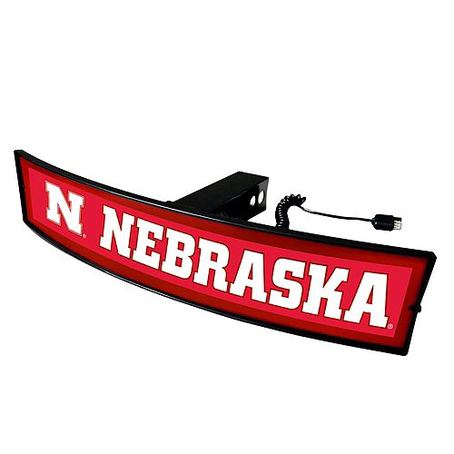 FANMATS Nebraska Cornhuskers Light Up Trailer Hitch Cover