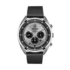 Seiko Men's Recraft Leather Solar Chronograph Watch - SSC569